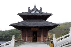 Construção do templo do xuedousi, adôbe rgb Imagens de Stock Royalty Free