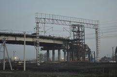 Construção do viaduto Imagens de Stock
