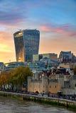 Construção do Walkietalkie da rua de 20 Fenchurch - Londres, Reino Unido Fotografia de Stock Royalty Free