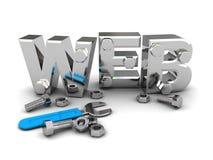 Construção do Web ilustração do vetor