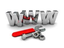 Construção do Web ilustração stock