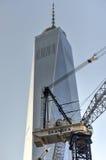 Construção do World Trade Center, Manhattan, New York Fotos de Stock Royalty Free