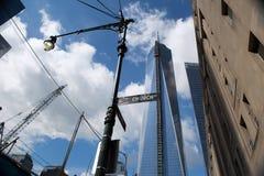 Construção do World Trade Center, New York Imagens de Stock