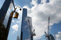 Construção do World Trade Center, New York Fotos de Stock Royalty Free