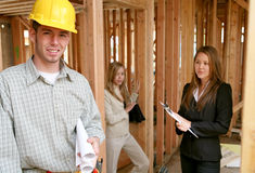 Construção dos bens imobiliários Imagens de Stock