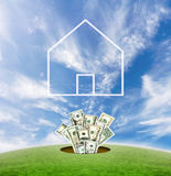 Construção dos bens imobiliários em América Fotos de Stock Royalty Free