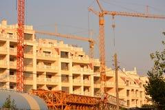 Construção dos hotéis Fotos de Stock