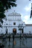 A construção dos mediados do século XVI da capela da catedral de Caracas da trindade santamente imagem de stock