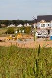 Construção dos novos domicilios imagens de stock
