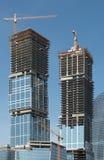 Construção dos prédios de escritórios imagem de stock