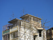 Construção velha branca Imagem de Stock Royalty Free