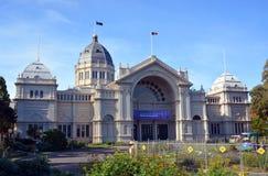 Construção e Carlton Gardens reais da exposição um patrimônio mundial S Foto de Stock Royalty Free