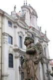 Construção e estátua Praga Foto de Stock Royalty Free