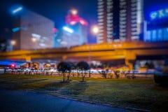 Construção e estrada urbanas, Shanghai, China imagem de stock royalty free