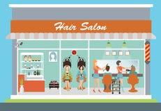 Construção e interior do cabeleireiro Ilustração Royalty Free