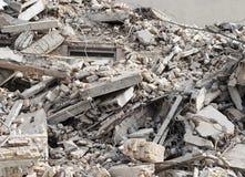 Construção e restos da demolição Imagens de Stock