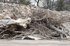 Construção e restos da demolição Fotos de Stock