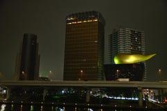 Construção e skytree de Ashai na noite Fotos de Stock