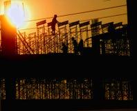 Construção e trabalhadores Fotografia de Stock Royalty Free