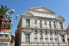 Construção em agradável, França de Opera Foto de Stock Royalty Free