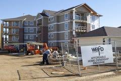 Construção em Alberta, Canadá foto de stock royalty free