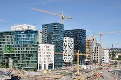 Construção em Bjorvika Imagem de Stock Royalty Free