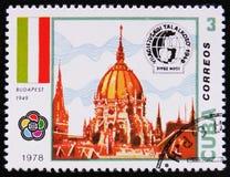 Construção em Budapest cerca de 1978 Imagens de Stock