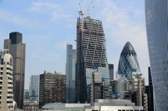 Construção em Londres Imagens de Stock
