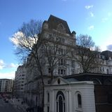 Construção em Moorgate, Londres imagem de stock