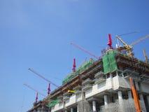 Construção em Singapore Imagem de Stock Royalty Free