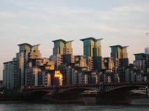 Construção em St George Wharf Imagem de Stock Royalty Free