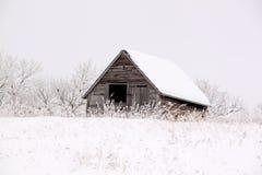 Construção em um dia gelado Foto de Stock