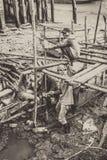 Construção em uma lama