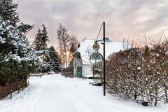 Construção em Wiek no inverno Imagem de Stock