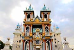 Construção europeia do castelo na casa de campo de Longfeng fotos de stock