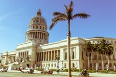 Construção famosa de Capitolio Nacional do Capitólio nacional O Natio Foto de Stock