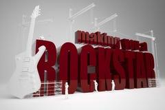 Construção fazendo lhe um rockstar Foto de Stock
