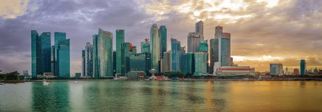 Construção financeira da arquitetura da cidade de Singapura imagem de stock
