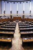 A construção finlandesa do parlament imagens de stock