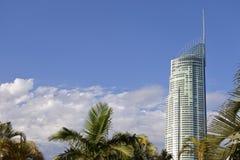Construção Gold Coast Queensland Austrália do arranha-céus Q1 foto de stock royalty free