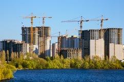 Construção grande da cidade habitada Imagem de Stock Royalty Free