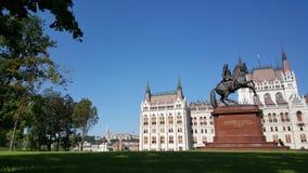 Construção húngara do parlamento fotografia de stock