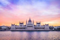 Construção húngara do parlamento imagens de stock