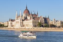 Construção húngara do parlamento - Budapest foto de stock