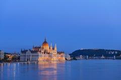 Construção húngara do parlamento. Budapest. Hungria Fotografia de Stock Royalty Free