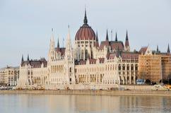 Construção húngara do parlamento em Budapest Imagem de Stock