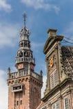Construção histórica da torre e do waag em Monnickendam Foto de Stock