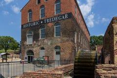 Construção histórica de Tredegar, museu americano da guerra civil em Richmon fotografia de stock