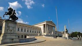 construção histórica do parlament no centro Viena imagem de stock royalty free