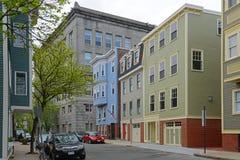 Construção histórica em Charlestown, Boston, miliampère, EUA foto de stock royalty free